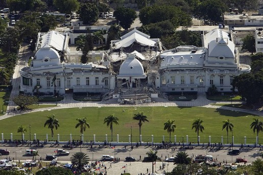 The Haitian National Palace in Port-Au-Prince, which collapsed in the quake. [source: UNDP Global]