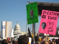 Participants in the 2009 March for Life (SOURCE: http://en.wikipedia.org/wiki/File:AntiObamaBiden.jpg)