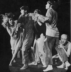 "The Open Theater performing ""The Serpent"" in 1967. (source: http://caffecino.files.wordpress.com/2008/11/serpent.jpg)"