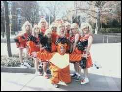 I wish I looked that good in a cheerleading uniform...or in a tiger suit, for that matter.