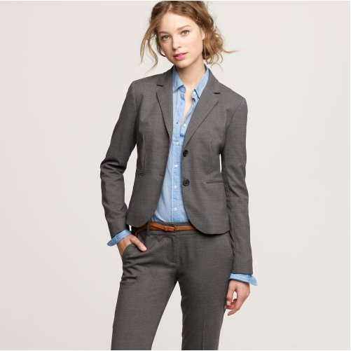 Seriously Mom, how could I go to my interviews without a light charcoal Aubrey jacket in Italian wool? Girl, please.