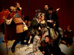 "A light moment with the cast of ""Hamlet"" (those drama queens...)"
