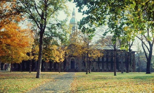 A great 60s-tastic shot of Nassau Hall. (photo from www.princeton.edu)