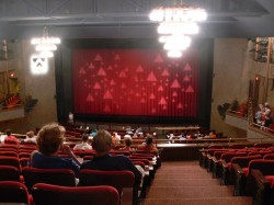 """McCarter Theatre Center's Matthews Theater (known by members of the Princeton Triangle Club as """"the house Triangle built"""") on the night of a Triangle show."""