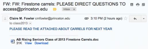 carrels??
