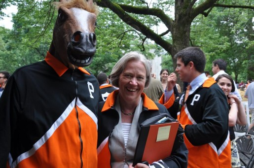 Princeton Horse and President Tilghman at Graduation 2013