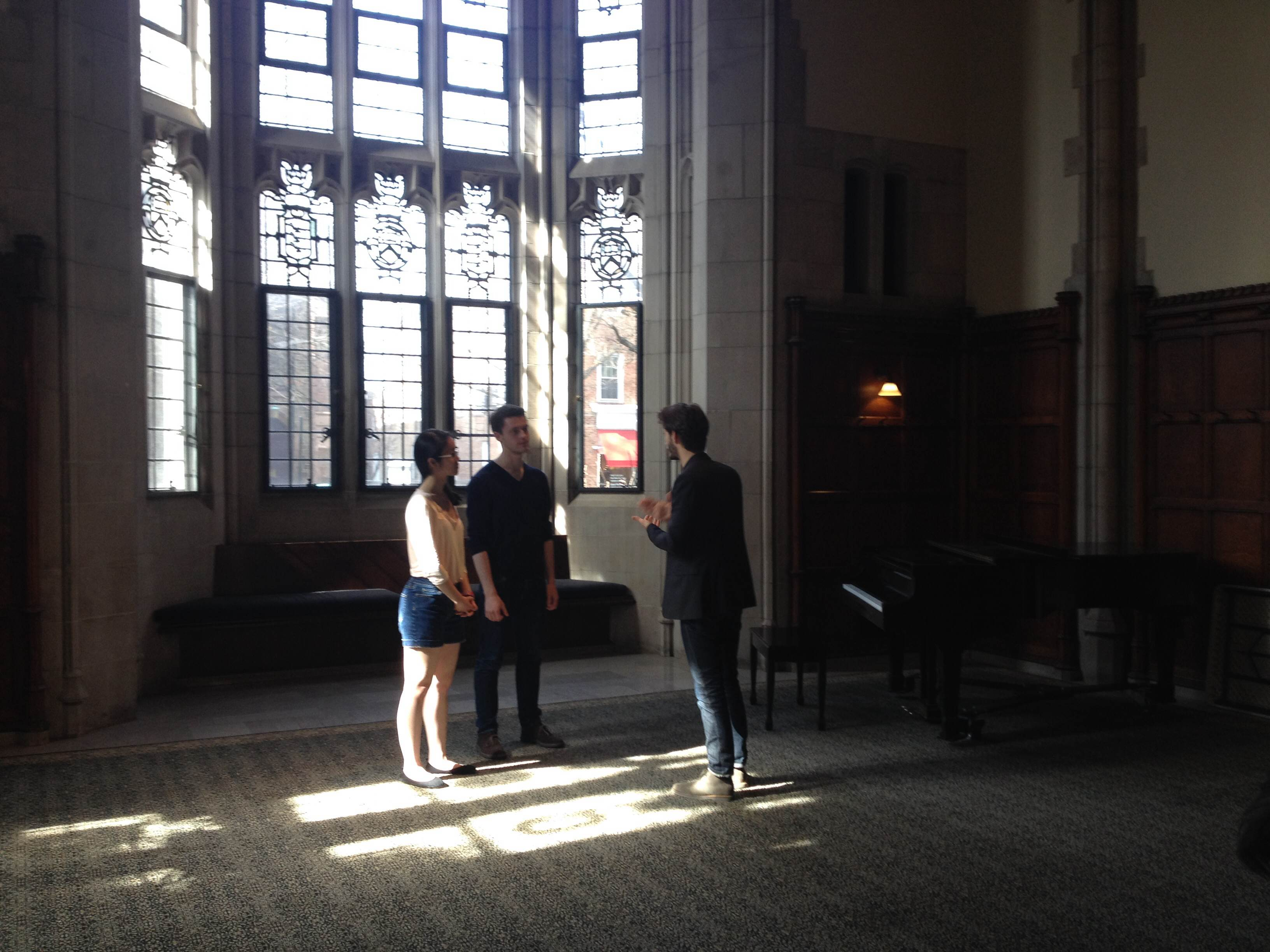 pierre niney and princeton take two university press club