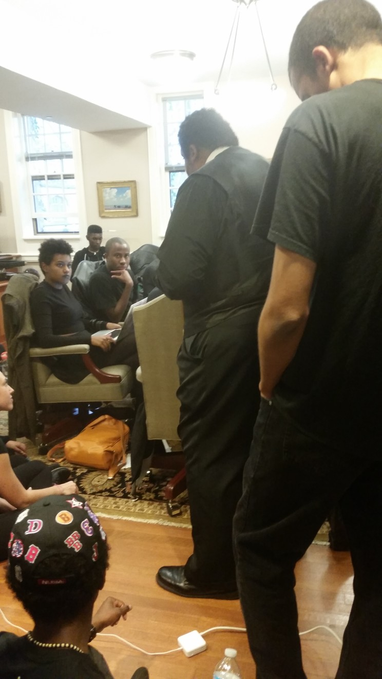 Rev. William Barber speaks to students