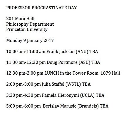Professor Procrastinate Day
