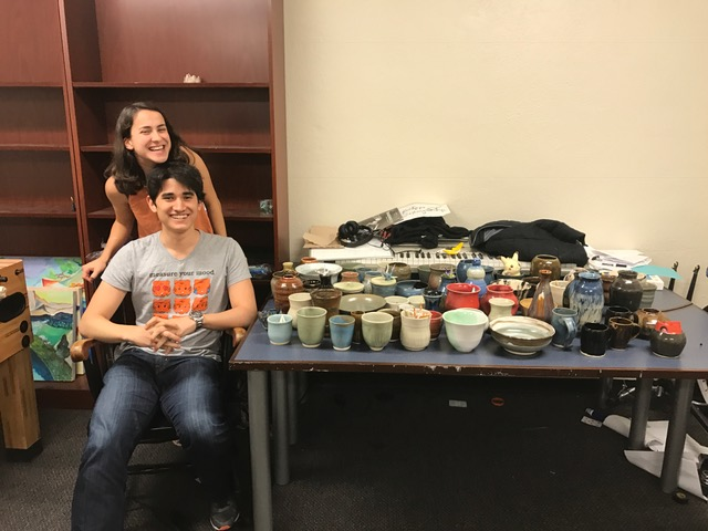 Katie, Juston, and their family of pots.